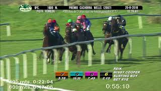 Vidéo de la course PMU PREMIO CACHORRA WELLS 2007 (1O TURNO)
