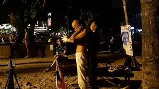Super Thai beach massage,fun,Russian Dances,lol.Тайский массаж.пляж.Патонг.Русские танцы.Тайланд.лол