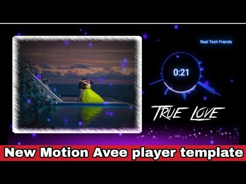New Motion Avee player template | Avee player tutorial | How to