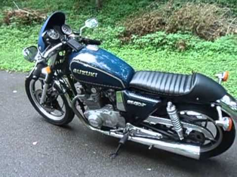 1981 Suzuki GS450 Cafe Racer Transformation - YouTube