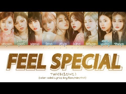 "TWICE트와이스 ""Feel Special"" Color Coded  EngRomHan가사"