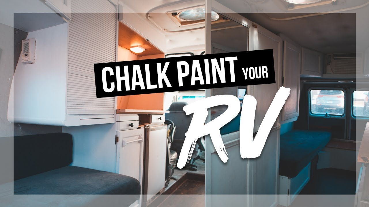 How To Chalk Paint Your RV Interior Cabinets | Roadtrek Camper Renovations