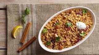 Lebanese Freekeh With Lentils & Onions Recipe