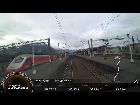 2019.1台鐵 6421次TEMU2000普悠瑪號 花蓮-台北SONY FDR-X3000 Action Cam GPS 參數資料 路程景