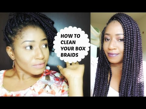 HOW TO CLEAN  AND MAINTAIN BOX BRAIDS || NIGHT ROUTINE