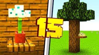 15 EKSTRA DEKORACJI W MINECRAFT 1.14!! | Minecraft Pomysłowe Dekoracje