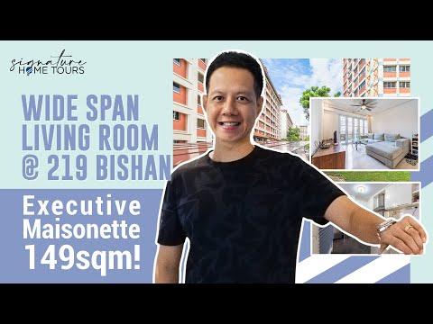 Executive Maisonette | 219 Bishan Street 23: Wide Span Living Room ($845K, Singapore HDB, 149sqm)