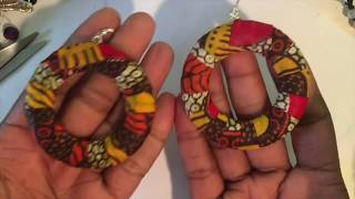 Gambar cover DIY FRIDAY FABRIC WOOD EARRINGS