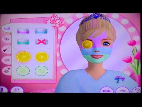 Барби: Салон Красоты. Делаем макияж.