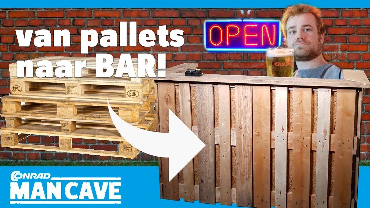 Bar Bouwen Thuis : Een bar bouwen van pallets deel youtube