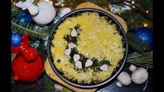 Вкуснейший жульен с курицей и грибами! Легко и просто!