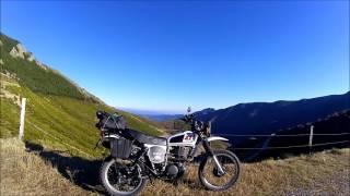 Yamaha XT 500. Balade hivernale. Le col de la croix de Bauzon.