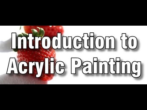 introduction to acrylic painting - how to paint with acrylics - paint along art class