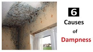 Causes of Dampness in walls and Ceilings