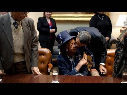 Dorothy Height with President Obama at the White House