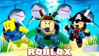 ESCAPE THE SHARK ARMY IN ROBLOX! (Roblox Shark Simulator)