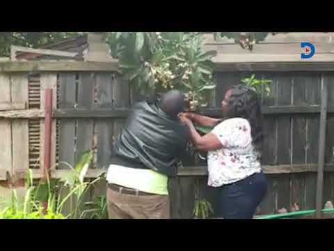 Irresistible Fruits: Mama Ida Odinga caught on camera allegedly plucking neighbour's fruit