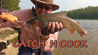Camping and Fishing Caтch and Cook/Solo in the Wild with Dog/11 Day Overnight Mountain Adventure/4K