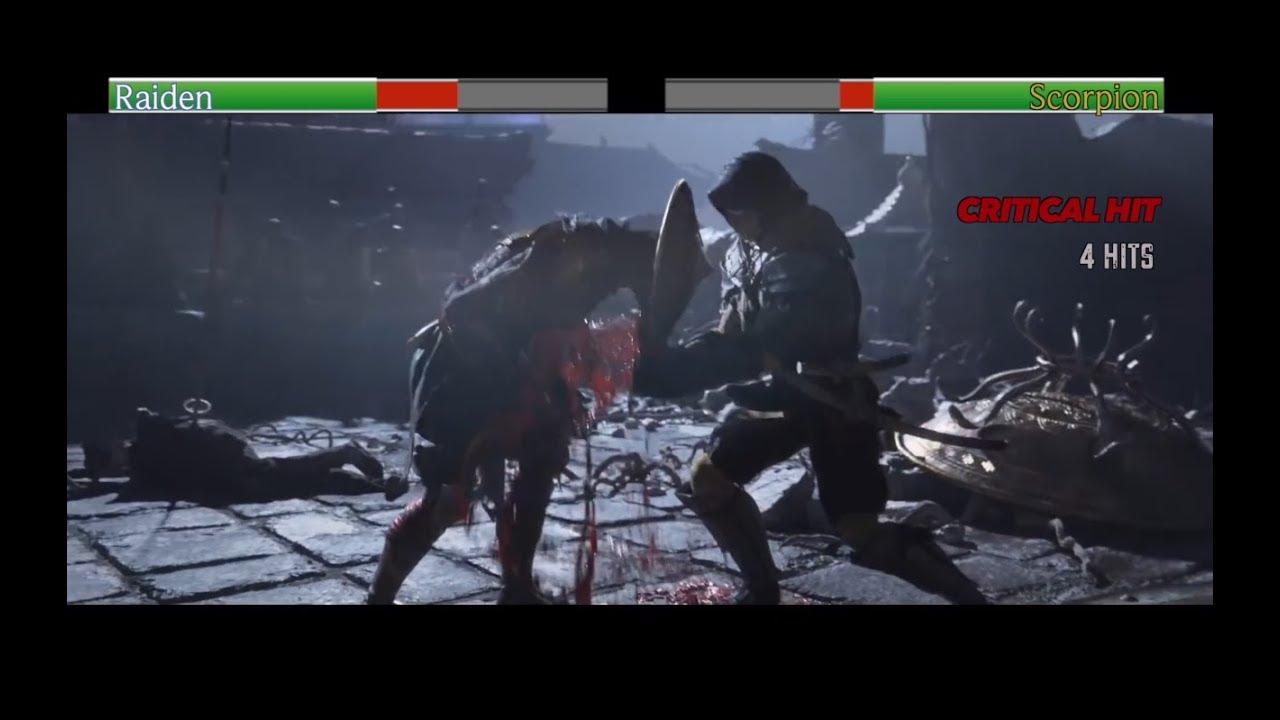 Raiden vs Scorpion   with healthbars