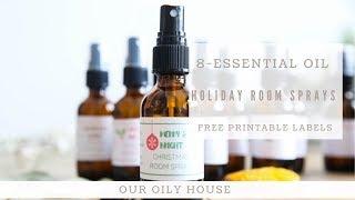 Holiday Room Spray Recipe | How to Make Christmas Room Sprays using Essential Oils