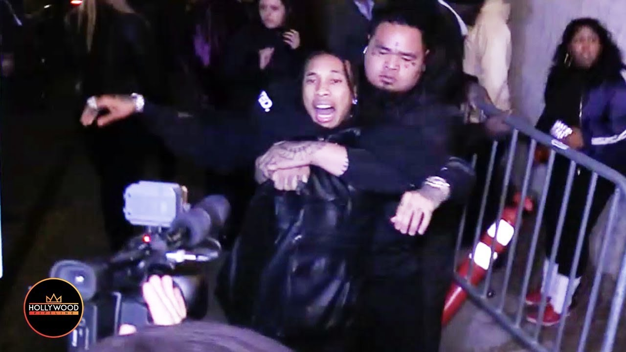 Tyga reaches for gun after being dragged out of Floyd Mayweather's party