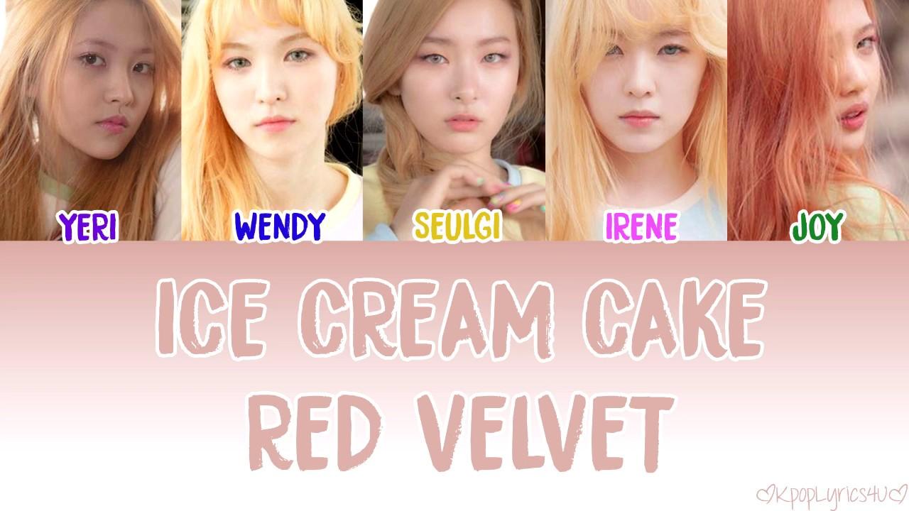 Red Velvet Ice Cream Cake Lyrics English