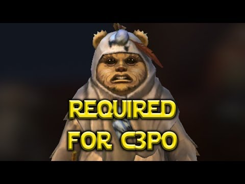 Full Guide Ewoks Required For C3PO Legendary - Star Wars: Galaxy Of Heroes - SWGOH