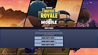 Fortnite Mobile: FREE DOWNLOAD CODES GIVEAWAY - How To Get An Invite To Fortnite On Mobile