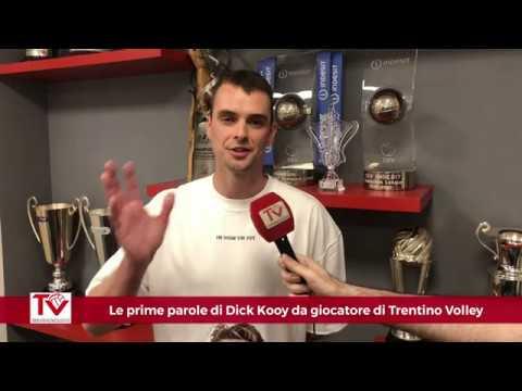 Le prima parole di Dick Kooy da giocatore di Trentino Volley