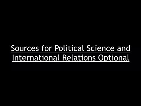Sources for Political Science Optional