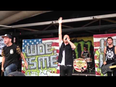 Woe, Is Me - A Story To Tell (Live) 7/10/13 Warped Tour, MD
