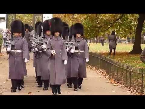 Marching back to Wellington barracks