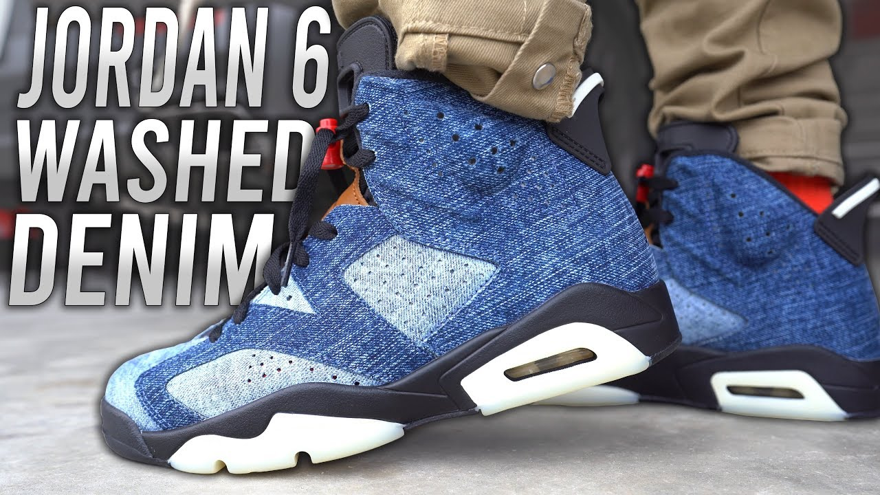 COP OR NOT ? AIR JORDAN 6 WASHED DENIM REVIEW AND ON FOOT IN 4K !!!