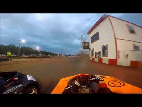 KC RaceWay Adult Light heat race(Raining) 5/21/16