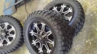 877-544-8473 20 Inch Dcenti 920 Black Truck Wheels Mud Tires Nitto Toyo Federal Free Shipping Call