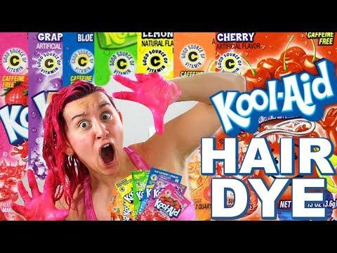 DYING MY HAIR WITH KOOL-AID!! :O HOLY SH**