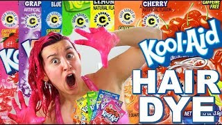 DYING MY HAIR WITH KOOL-AID!! :O HOLY SH**