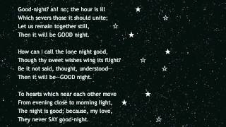 Good-Night written by Percy Bysshe Shelley
