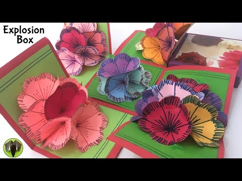 """""""EXPLOSION 3D Flower Popup Card Box"""" - Tutorial by Paper folds # 687"""