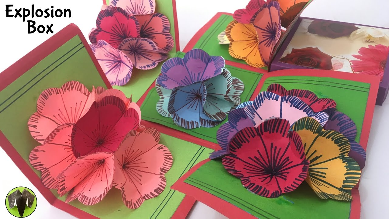 """""""EXPLOSION 3D Flower Popup Card Box"""" - Tutorial by Paper"""
