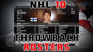 NHL 2010 l THROWBACK ROSTERS!