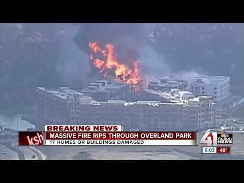 Massive fire rips through Overland Park