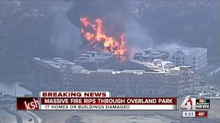 Massive fire rips through Overland Park