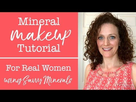 Mineral Makeup Tutorial for Real Women with Savvy Minerals by Young Living Makeup!