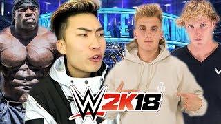 JAKE PAUL and LOGAN PAUL vs RICEGUM and KALI MUSCLE | WWE 2K18
