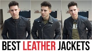 BEST FITTING LEATHER JACKETS FOR MEN 2019 | LEATHER JACKET HAUL ASOS