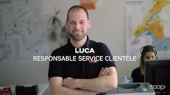 Voici le quotidien de Luca au sein du service clientèle chez Coop