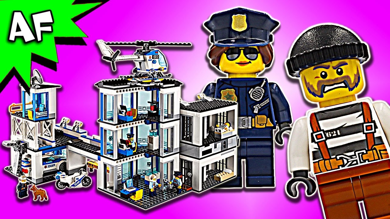 Lego City Police Station 60141 Speed Build Youtube