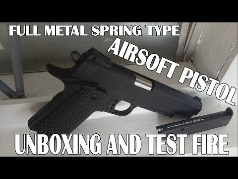 FULL METAL SPRING TYPE AIRSOFT PISTOL C.10A+ UNBOXING AND REVIEW