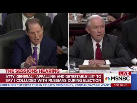 Sessions bites off Wyden's head during testimony